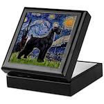Starry Night / Schnauzer Keepsake Box
