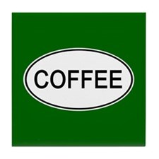 Coffee Euro Oval green Tile Coaster