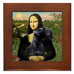 Mona Lisa /giant black Schnau Framed Tile