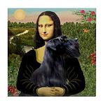 Mona Lisa /giant black Schnau Tile Coaster