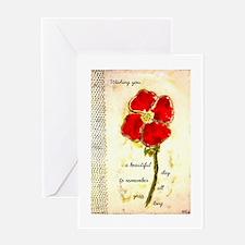 Poppy Birthday ~ Single Card