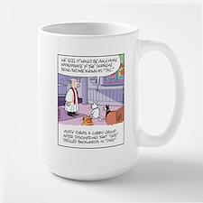 Cats, Dogs, and God Large Mug