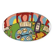 Seder Table Oval Decal