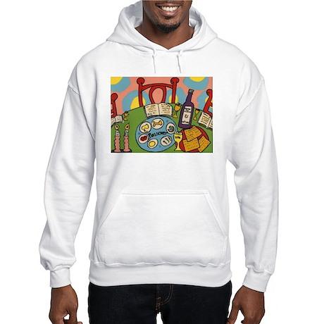 Seder Table Hooded Sweatshirt