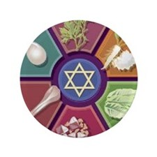 "Seder Plate Other 3.5"" Button"