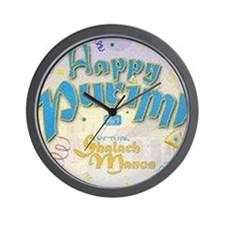 Happy Purim Wall Clock
