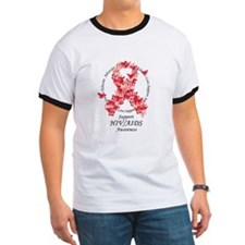 AIDS Butterfly Ribbon T