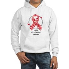 AIDS Butterfly Ribbon Hoodie