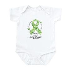 Lyme Disease Butterfly Ribbon Infant Bodysuit