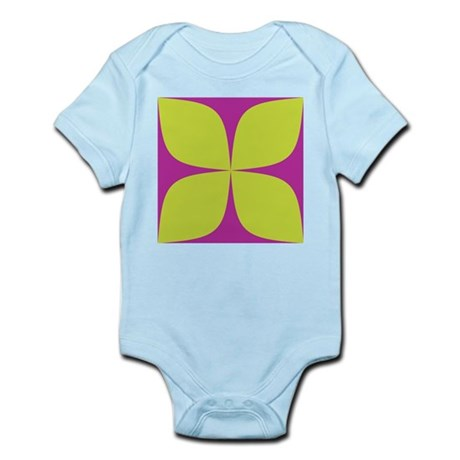 Purple and Green Shirts Infant Creeper