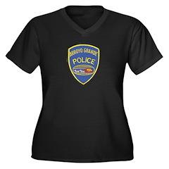 Arroyo Grande Police Women's Plus Size V-Neck Dark
