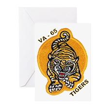 VA 65 Tigers Greeting Cards (Pk of 10)