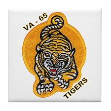 VA 65 Tigers Tile Coaster