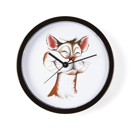 Happy Kitty Face Wall Clock