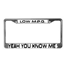 Low MPG License Plate Frame