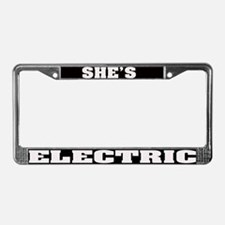She's Electric License Plate Frame