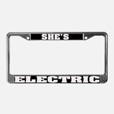 shes electric license plate frame