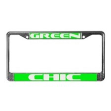 green chic License Plate Frame