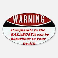 Warning II Oval Decal