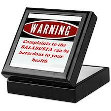 Warning II Keepsake Box