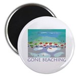 Gone Beaching - Beach Magnet