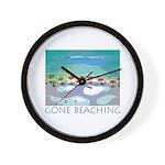 Gone Beaching - Beach Wall Clock