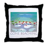 Gone Beaching - Beach Throw Pillow