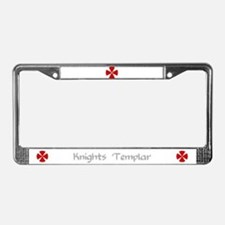 Knights Templar License Plate Frame