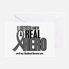 Never Knew A Hero 2 Grey (Husband) Greeting Card