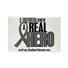 Never Knew A Hero 2 Grey (Husband) Rectangle Magne
