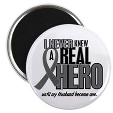 Never Knew A Hero 2 Grey (Husband) Magnet