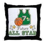 Future All Star Basketball Throw Pillow