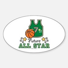 Future All Star Basketball Oval Decal
