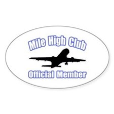 """""""Mile High Club"""" Oval Decal"""
