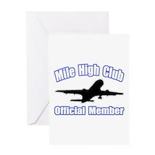 """Mile High Club"" Greeting Card"
