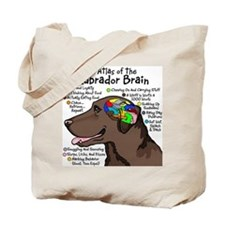 Chocolate Lab Brain Tote Bag