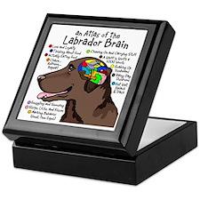 Chocolate Lab Brain Keepsake Box
