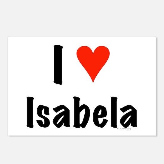 I love Isabela Postcards (Package of 8)