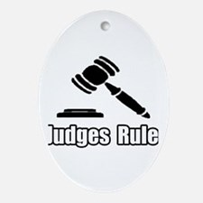 """""""Judges Rule"""" Oval Ornament"""