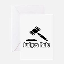 """Judges Rule"" Greeting Card"