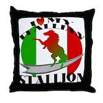 I Love My Italian Stallion Throw Pillow