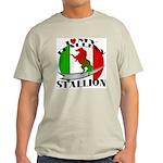 I Love My Italian Stallion Ash Grey T-Shirt
