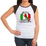 I Love My Italian Stallion Women's Cap Sleeve T-Sh