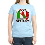 I Love My Italian Stallion Women's Pink T-Shirt