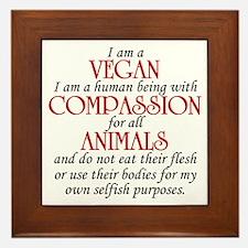 I Am A Vegan Framed Tile