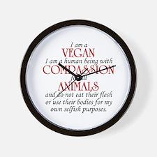 I Am A Vegan Wall Clock