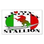 I Love My Italian Stallion Rectangle Sticker