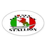 I Love My Italian Stallion Oval Sticker