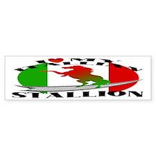 I Love My Italian Stallion Bumper Bumper Sticker