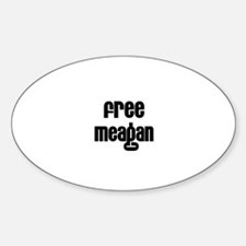 Free Meagan Oval Decal